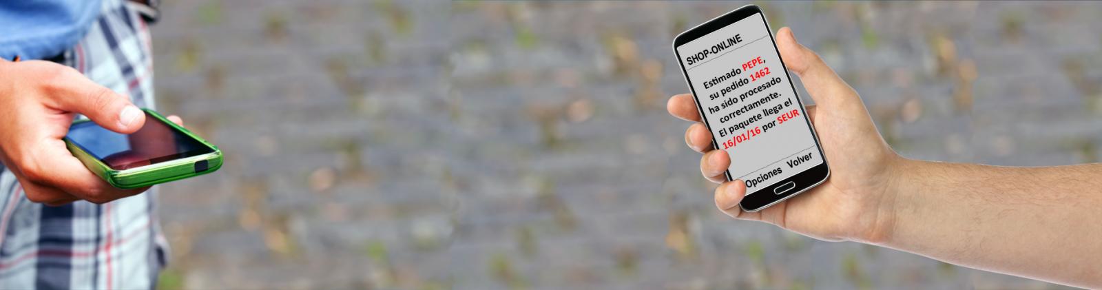 sms push personalizados